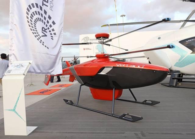 """Беспилотник вертолетного класса VRT300 российской компании """"ВР-Технологии"""" на Международной авиационно-космической выставке Dubai Airshow"""