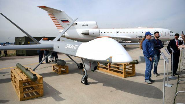 """Беспилотный летательный аппарат """"Орион-Э"""", представленный на МАКС-2021"""