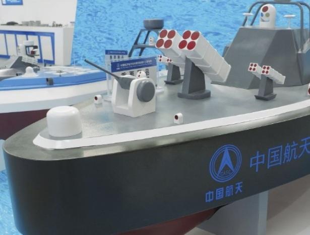 Модель китайского беспилотного катера.
