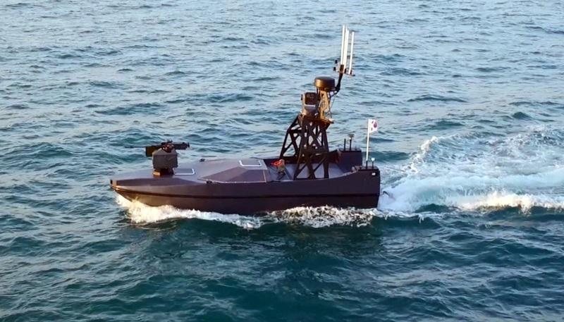 Беспилотный катер, разработанный для южнокорейской армии.