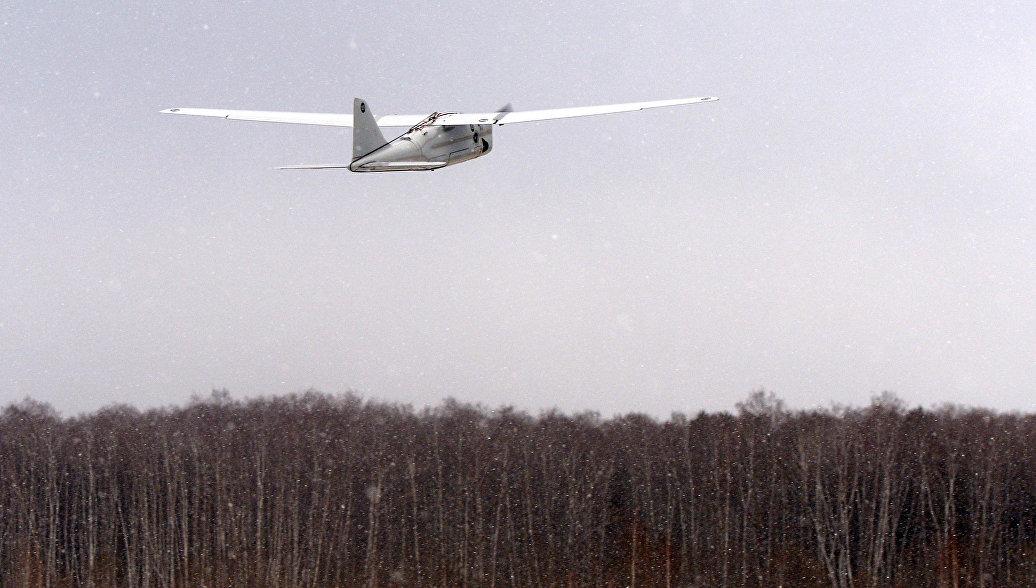 Беспилотный летательный аппарат (БПЛА) Орлан-10. Архивное фото.