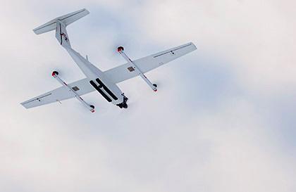 Беспилотный летательный аппарат Группы «Кронштадт» на учениях Кингисеппских электрических сетей.