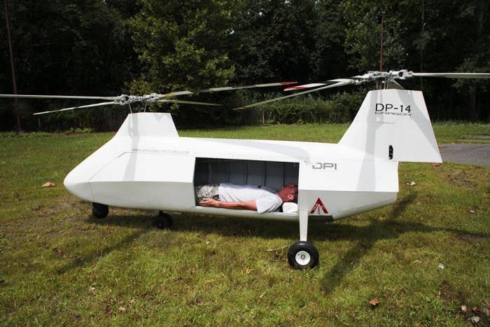 Беспилотник вертолетного типа Dragonfly Pictures DP-14 Hawk.
