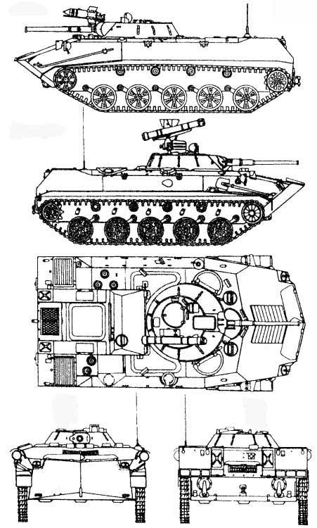 Боевая машина десанта БМД-1, БМД-1К, БМД-1П, БМД-1ПК