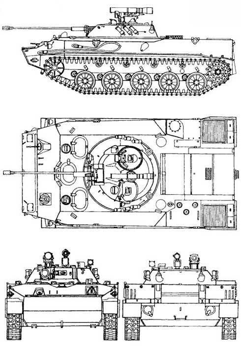 Боевая гусеничная плавающая машина десанта БМД-3, БМД-3К