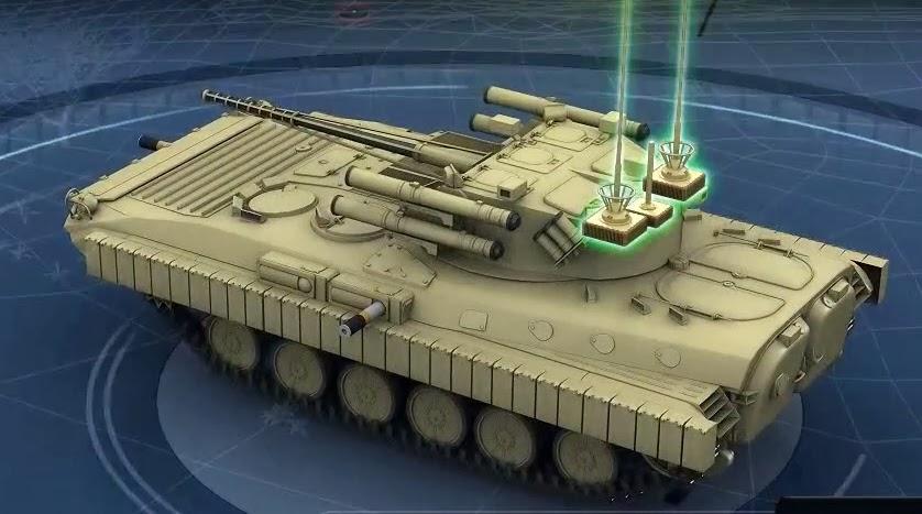 Изображение варианта модернизации Харьковским КБТМ БМП-2, представленное на выставке Defexpo-2014.