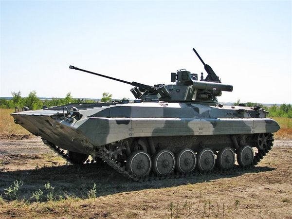 Модернизация БМП-2 с установкой модуля Бережок
