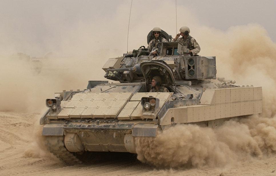Боевая машина пехоты (БМП) США M2A2 Bradley.