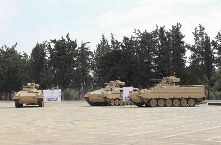 Переданные Германией вооруженным силам Иордании боевые машины пехоты Marder 1A3. Амман, 11.12.2016.