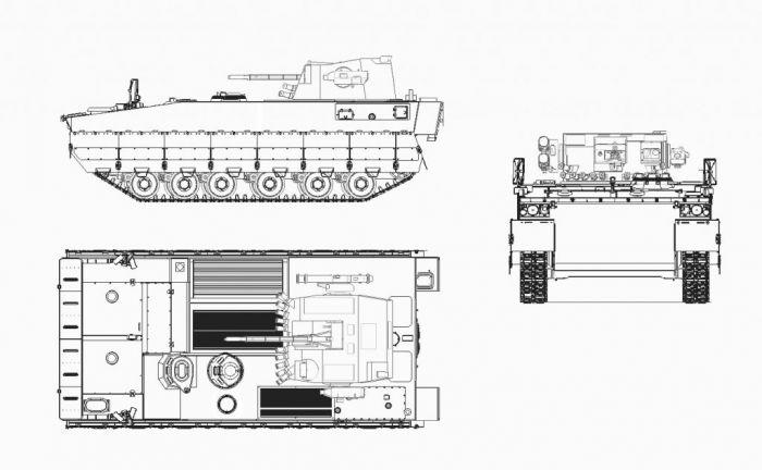 Рисунок разрабатываемой украинской БМП-У (BMP-U).