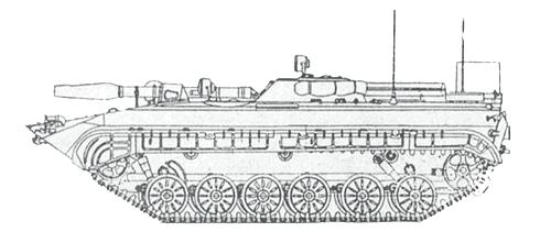 Боевая машина пехоты БМП-1КШ - командно-штабная машина