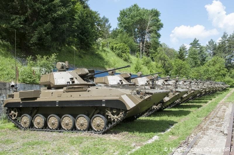 Переданные армии Словакии первые модернизированные боевые машины пехоты BVP-M. 29.05.2018.