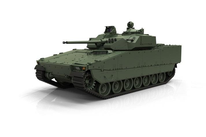Компьютерная модель БМП CV90 MkIV.