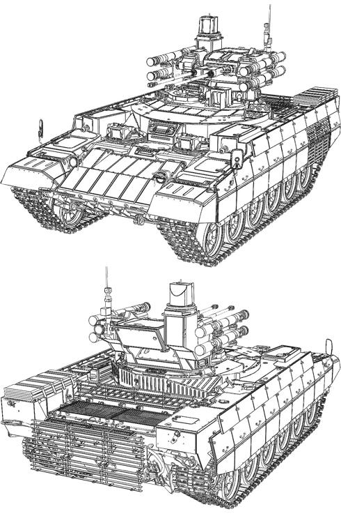 Боевая машина поддержки танков (БМПТ) Рамка-99 (Терминатор)