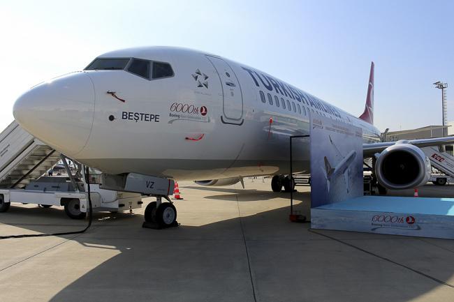 Презентация 6000-го серийного самолета Boeing 737 на авиасалоне Istanbul Airshow.