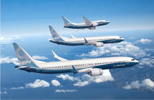 Самолет Boeing 737 MAX.