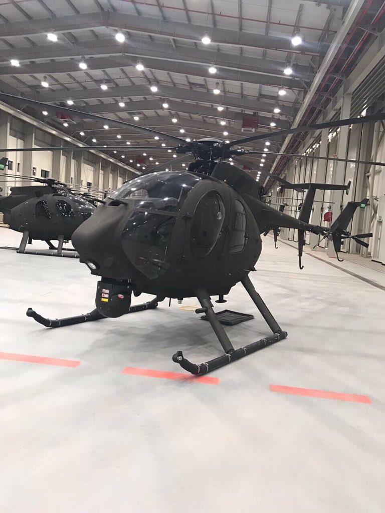 Первые полученные Национальной гвардией Саудовской Аравии американские легкие боевые вертолеты Boeing AH-6SA Little Bird. 04.06.2017.
