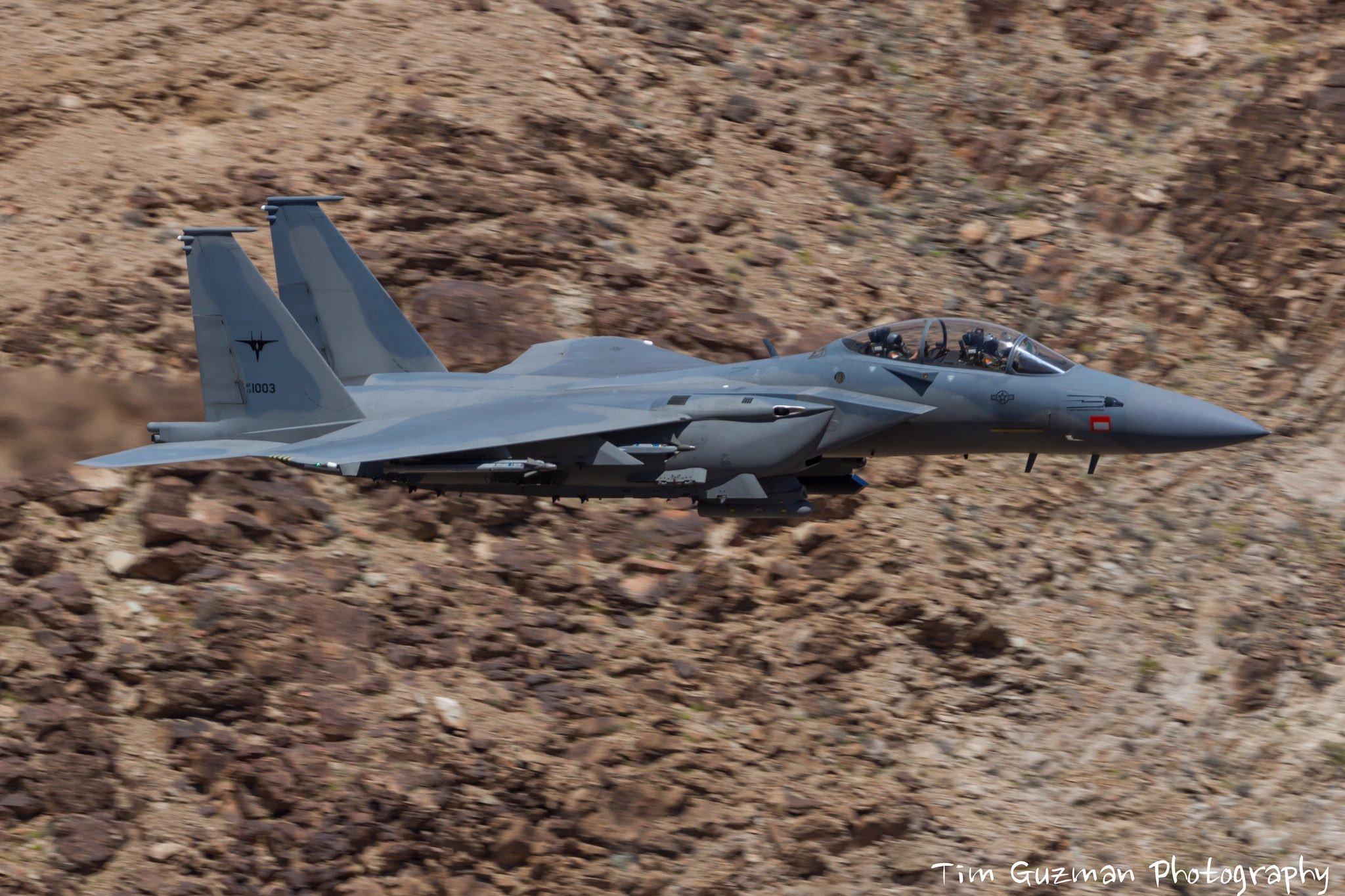 Один из построенных для Саудовской Аравии по соглашениям 2012 года по линии FMS истребителей Boeing F-15SA (номер ВВС США 12-1003).