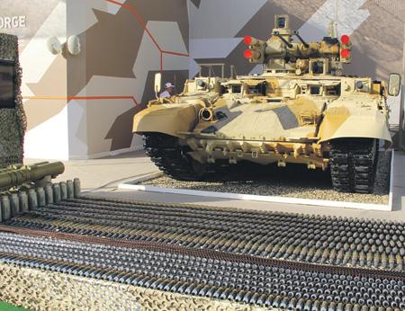 Боекомплект БМПТ «Терминатор» на выставке вооружений и военной техники IDEX. Абу-Даби, ОАЭ, 2013 год.
