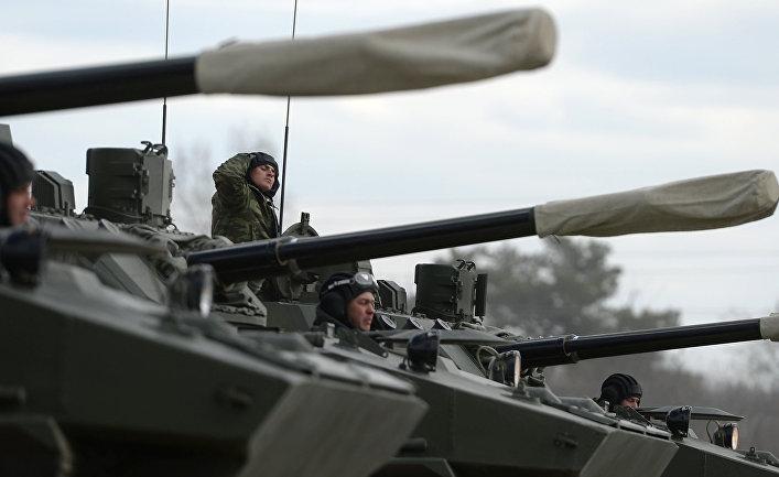 Боевая машина десанта БМД-4М на полигоне в Алабино.