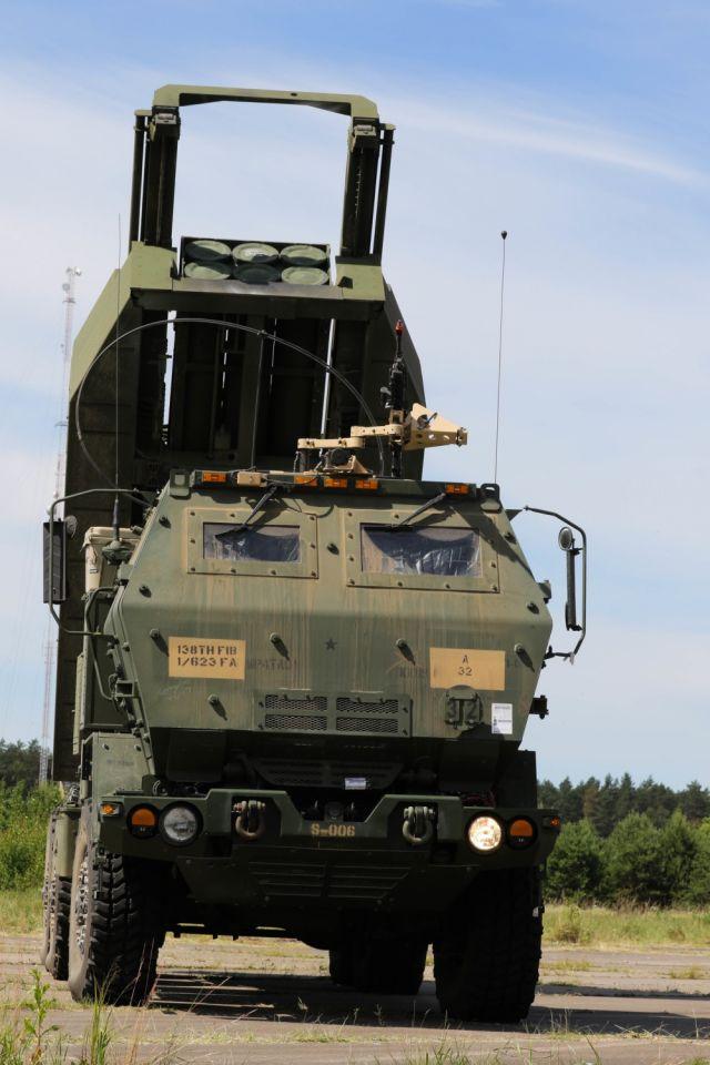 Боевая машина М142 реактивной системы HIMARS
