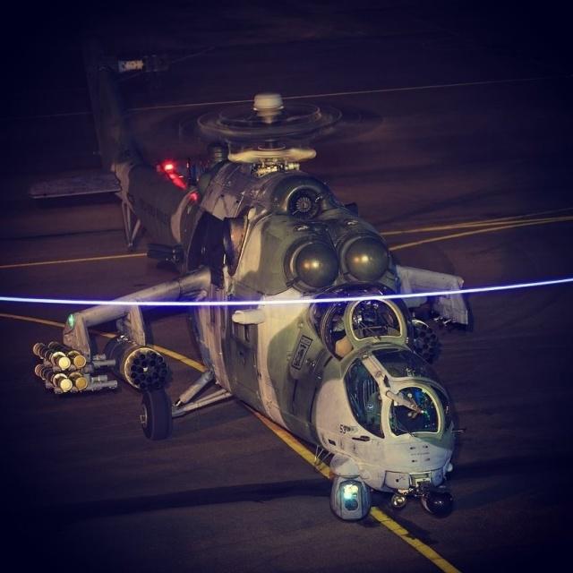 Боевой вертолет Ми-35М (AH-2 Sabre) из состава 2-й эскадрильи 'Poti' 8-й авиационной группы ВВС Бразилии. 2016 год