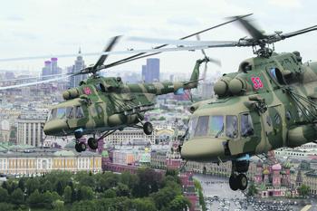 Боевые вертолеты становятся не только средствами доставки, но и огневой поддержки. Фото со страницы Министерства обороны РФ в «ВКонтакте»
