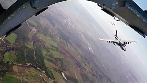 Боевые вылеты самолетов ВКС Россиии