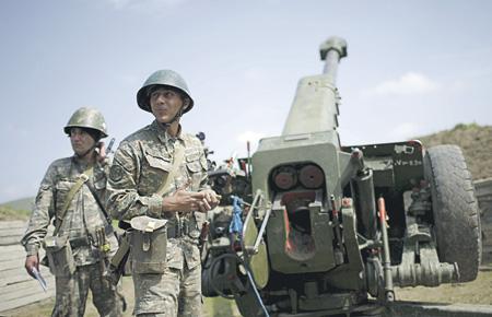 Бойцы Армии обороны Нагорно-Карабахской Республики готовы дать отпор агрессору. Фото Reuters