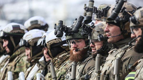 Бойцы Росгвардии во время учений