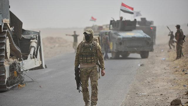 Бойцы сил быстрого реагирования Ирака под Киркуком.