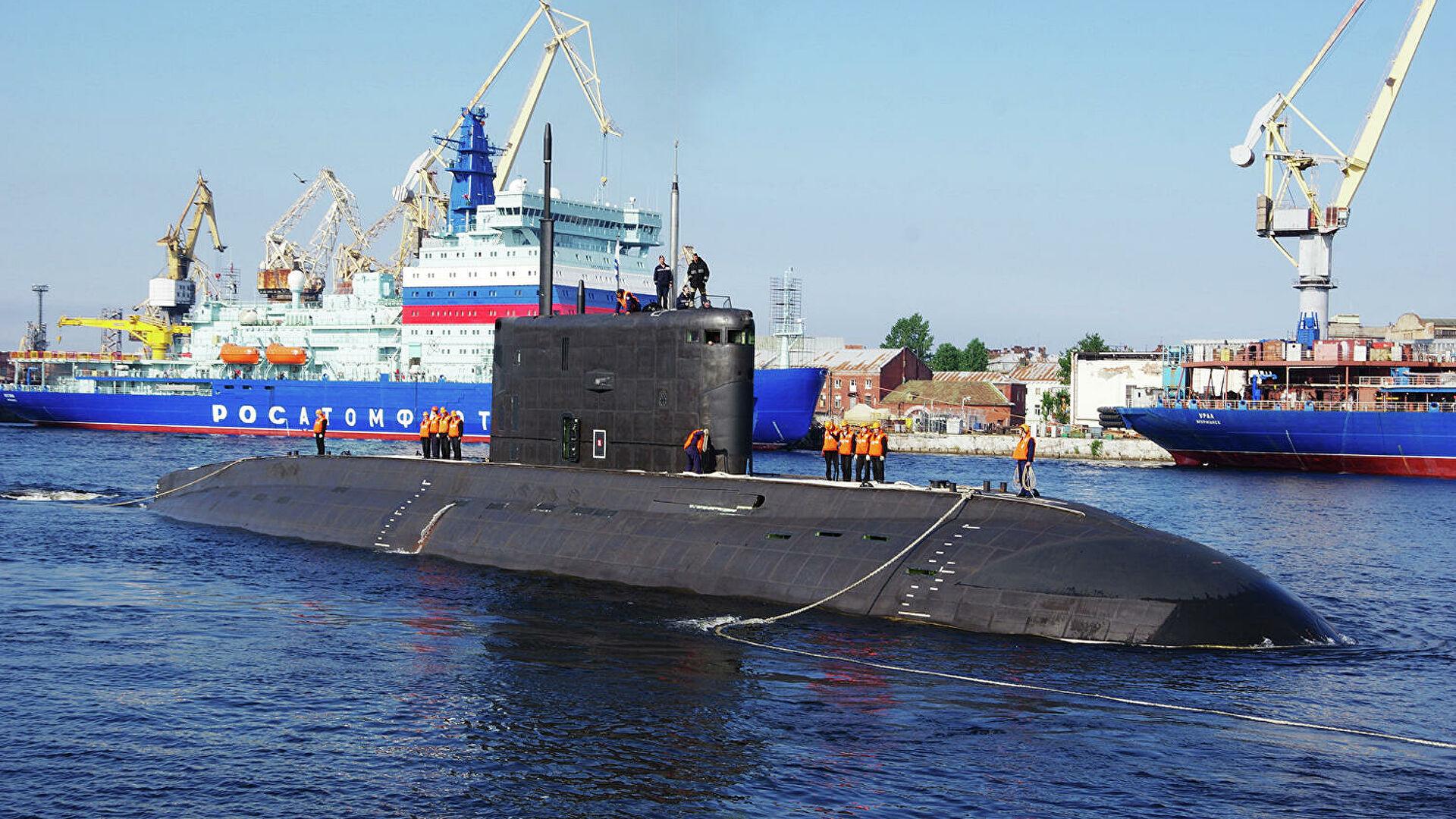 """Дизель-электрическую подводную лодку """"Волхов"""" передали ВМФ"""