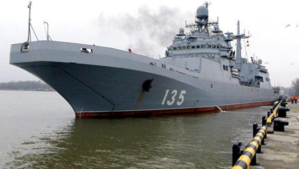 Большой десантный корабль Иван Грен выходит в Балтийское море для проведения государственных испытаний