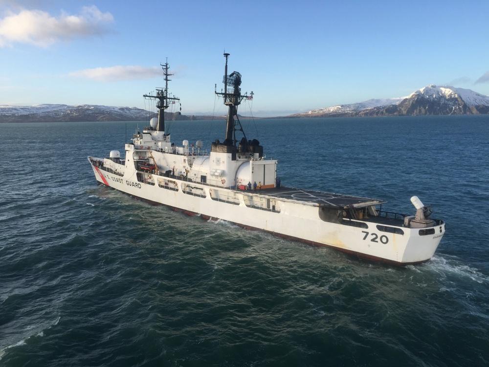 Большой патрульный корабль WHEC 720 Sherman (типа Hamilton) Береговой охраны США, планируемый к передаче береговой охране Вьетнама. 12.02.2017.