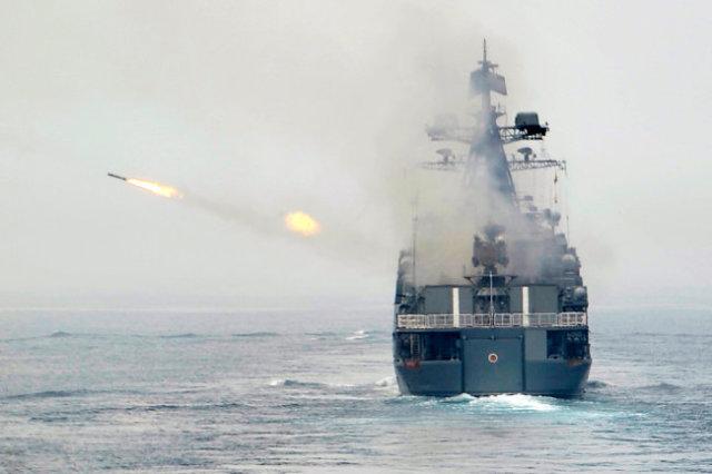 """Большой противолодочный корабль """"Маршал Шапошников""""."""
