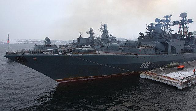 Большой противолодочный корабль Североморск.