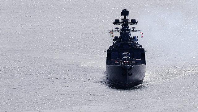 Большой противолодочный корабль Тихоокеанского флота Адмирал Виноградов. Архивное фото.