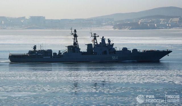 Большой противолодочный корабль Тихоокеанского флота РФ Адмирал Трибуц. Архивное фото