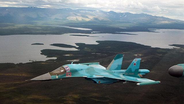 Бомбардировщик Су-34. Архивное фото.
