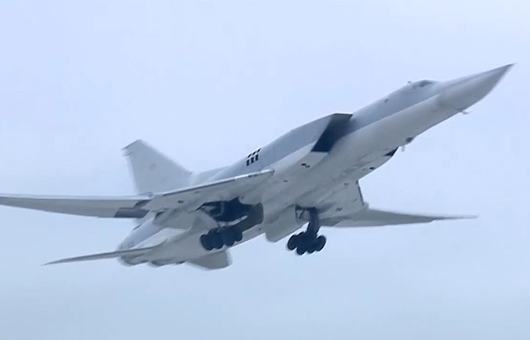 Бомбардировщик Ту-22М3 ВКС России.