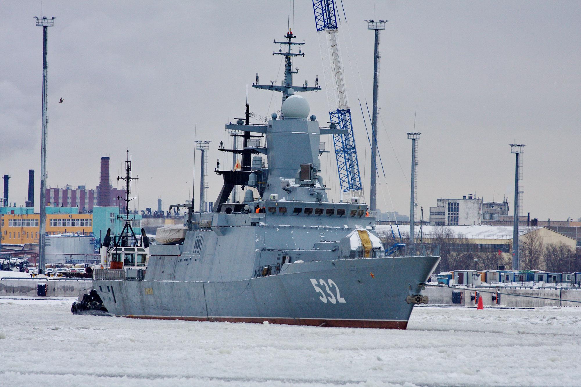Российский корвет &quot;Бойкий&quot; проекта 20380<br>Источник: http://www.shipspotting.com/.