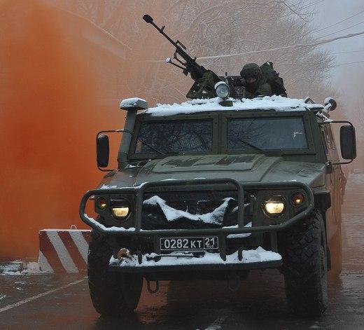 "Бронеавтомобиль ""Тигр"" с пулеметом ""Корд"" калибра 12,7 мм."