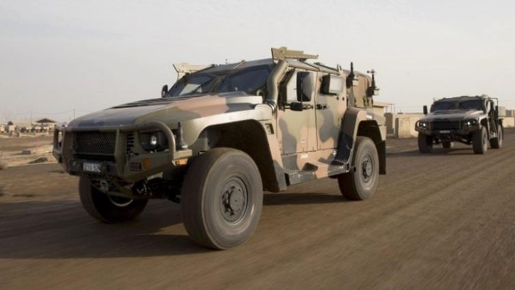 Бронемашины Hawkei в Ираке.