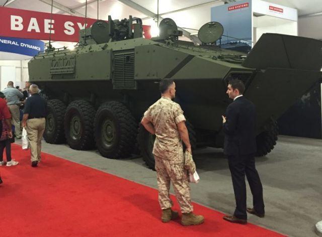 Бронетранспортёр-амфибия ACV от BAE Systems.