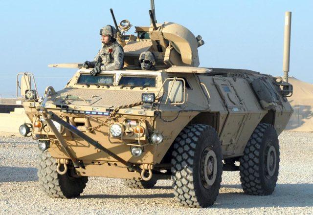 Бронированная машина М1117 ASV Guardian армии США