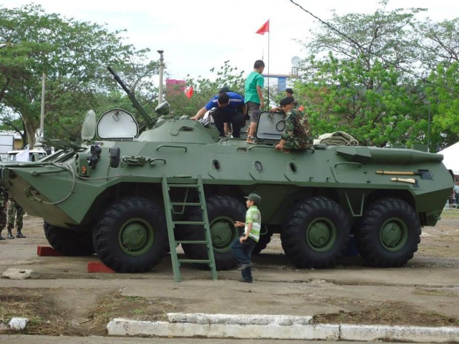 БТР-70М армии Никарагуа. Манагуа, сентябрь 2014 года.