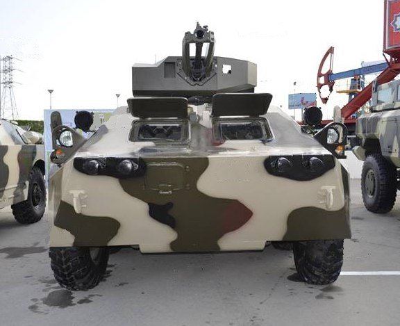 Азербайджанский БТР-70М с модулем Simsek.