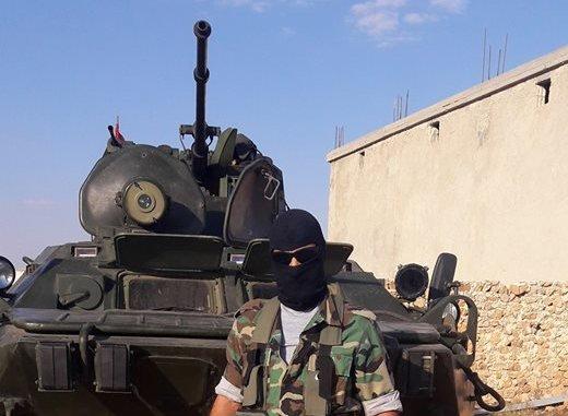 БТР-82 с лазерным прожектором в Сирии.