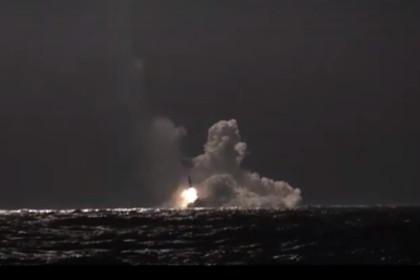 Старт ракеты «Булава»