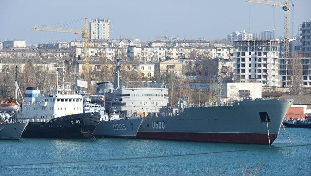 Бывшие корабли ВМС Украины в Севастополе.